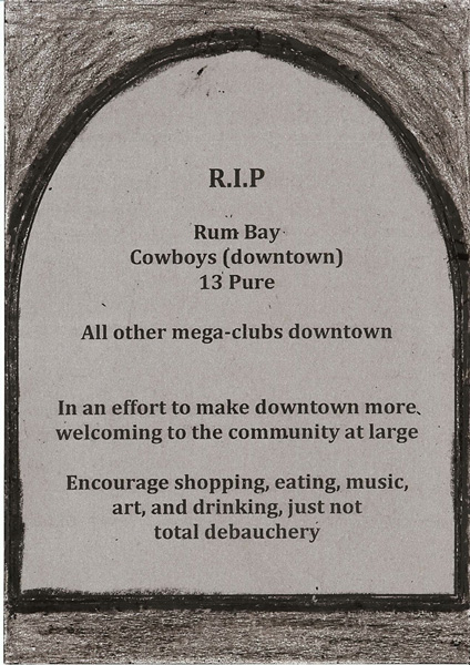 rip downtown mega-nightclubs